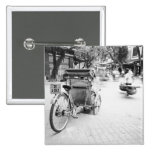 Hanoi Vietnam, Cyclo in Old Hanoi 15 Cm Square Badge
