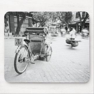 Hanoi Vietnam, Cyclo in Old Hanoi Mouse Mat