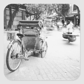 Hanoi Vietnam, Cyclo in Old Hanoi Square Sticker