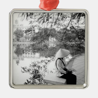 Hanoi Vietnam, Hoan Kiem Lake View (NR) Christmas Ornament