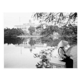 Hanoi Vietnam, Hoan Kiem Lake View (NR) Postcard