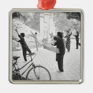 Hanoi Vietnam, Morning Excercises by Hoan Kiem Christmas Ornament