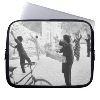 Hanoi Vietnam, Morning Excercises by Hoan Kiem Laptop Sleeve