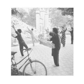 Hanoi Vietnam, Morning Excercises by Hoan Kiem Notepad