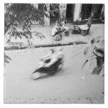 Hanoi Vietnam, Motorbike in Old Hanoi Tile