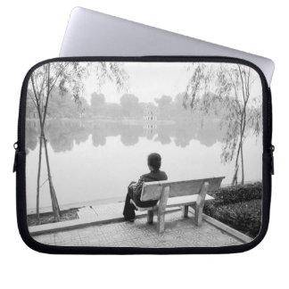 Hanoi Vietnam, View of Hoan Kiem Lake (NR) Laptop Sleeve