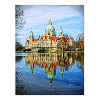Hanover, Germany - Old Town Hall Reflections Postcard