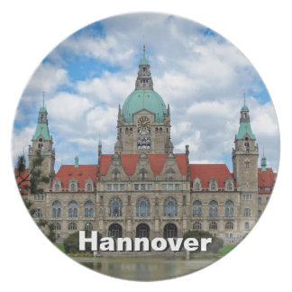 Hanover, Hannover, New Town Hall 02, Germany Plate