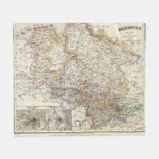 Hanover Region of Germany Fleece Blanket