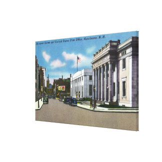 Hanover Street View of the Post Office Canvas Print