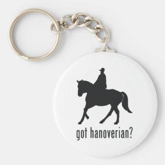 Hanoverian Basic Round Button Key Ring