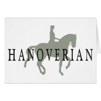 HANOVERIAN with Dressage Horse & Rider Card