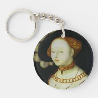 Hans Baldung: Portrait of a Lady Keychain
