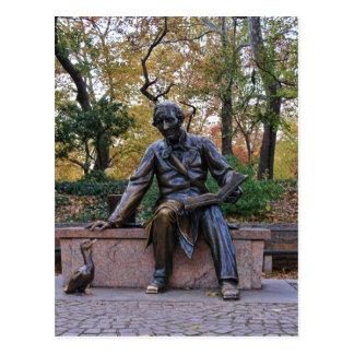 Hans Christian Andersen, Central Park, NYC Postcard