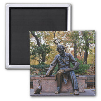 Hans Christian Andersen, Central Park, NYC Square Magnet