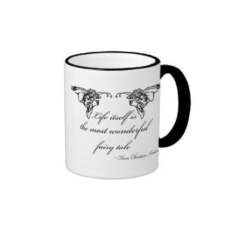 Hans Christian Andersen Fairy Tale Quote Gift Ringer Mug