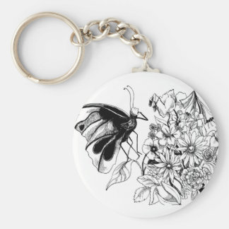 Hans Christian Andersen-story three Basic Round Button Key Ring