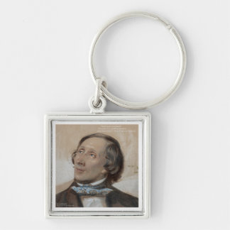 "Hans Christian Andersen ""Sunshine Freedom"" Gifts Silver-Colored Square Key Ring"