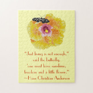 Hans Christian Anderson Butterfly Quote Puzzle