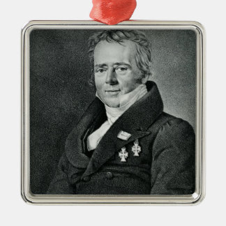 Hans Christian Orsted, engraved by Kaufmann Silver-Colored Square Decoration