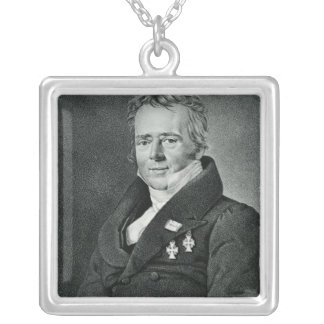 Hans Christian Orsted, engraved by Kaufmann Silver Plated Necklace