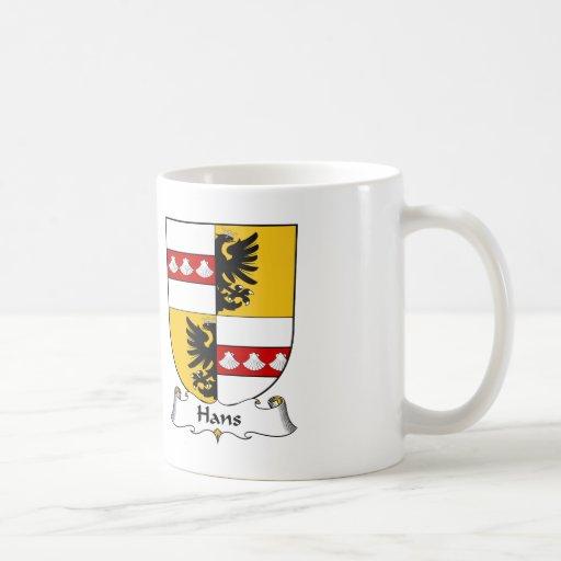 Hans Family Crest Mugs