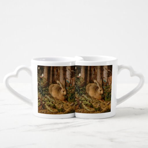 Hans Hoffmann A Hare In The Forest Couple Mugs