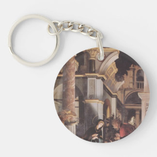 Hans Holbein - Oberried Altarpiece Single-Sided Round Acrylic Key Ring