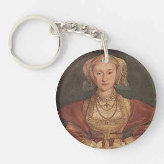 Hans Holbein- Portrait of Anne of Cleves Single-Sided Round Acrylic Keychain