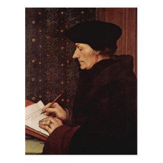 Hans Holbein - Portrait of Desiderius Erasmus Postcard