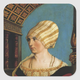 Hans Holbein- Portrait of Doprothea Meye Square Sticker