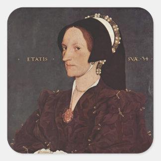 Hans Holbein- Portrait of Margaret Wyatt, Lady Lee Square Sticker