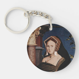 Hans Holbein- Portrait of Mary Wotton Key Chain