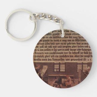 Hans Holbein- Principles of a schoolmaster Acrylic Key Chains