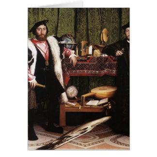 Hans Holbein the Younger- The Ambassadors Greeting Card