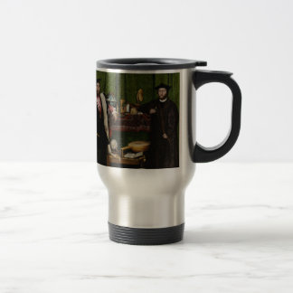Hans Holbein the Younger's The Ambassadors Stainless Steel Travel Mug