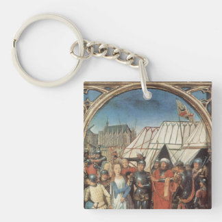Hans Memling Art Single-Sided Square Acrylic Key Ring