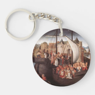 Hans Memling-Departure of Saint Ursula from Basle Single-Sided Round Acrylic Keychain