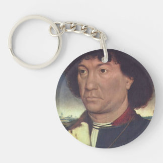 Hans Memling- Portrait of a Man at Prayer Keychains