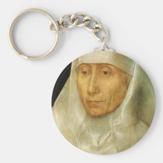 Hans Memling- Portrait of an Old Woman Keychains