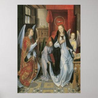 Hans Memling s Annunciation Canvas Print