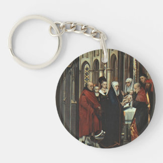 Hans Memling- The Presentation in the Temple Acrylic Keychains