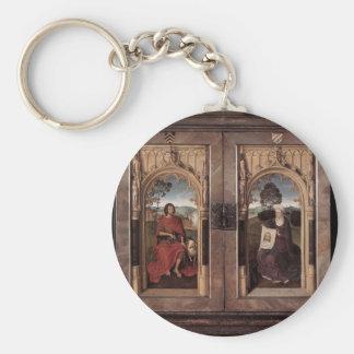 Hans Memling- Triptych of Jan Floreins closed Key Chain