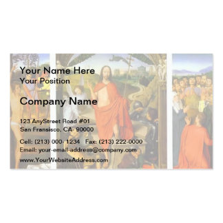 Hans Memling- Triptych of the Resurrection Business Card Templates