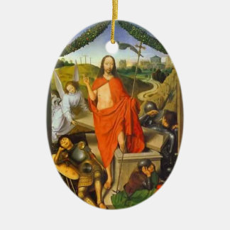 Hans Memling- Triptych of the Resurrection Christmas Tree Ornaments