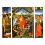 Hans Memling- Triptych of the Resurrection Postcard
