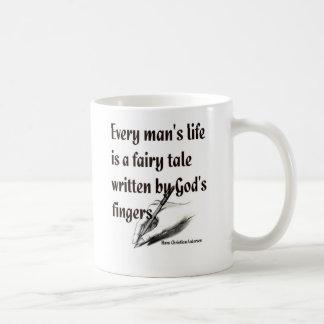 Hans quote basic white mug