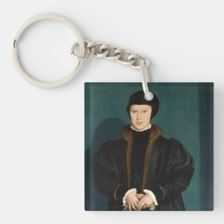 Hans The Younger Art Single-Sided Square Acrylic Key Ring