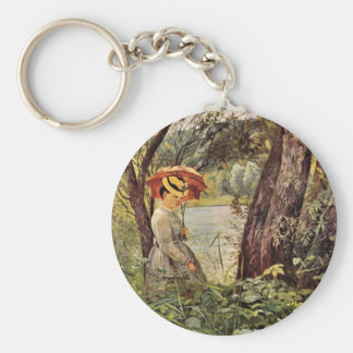 Hans Thoma - In the sunshine Keychain