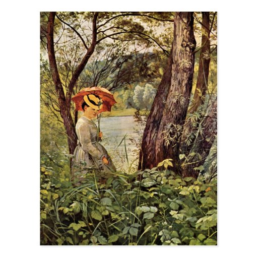 Hans Thoma - In the sunshine Post Card